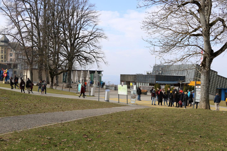 Bergstation der Gurtenbahn.